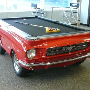 Mustang Car Pool Table