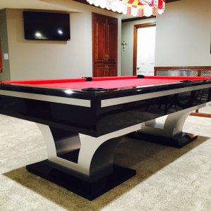 Luxor red interpool table